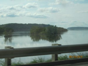 Driving along the mighty Mississippi to Ferryville, WI.